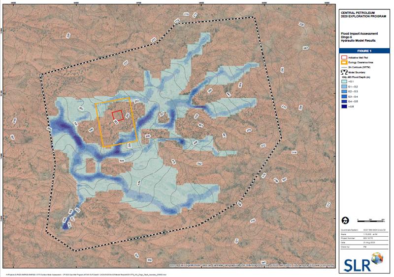 Example flood modelling